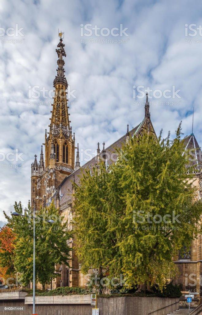 Frauenkirche church, Esslingen am Neckar, Germany stock photo