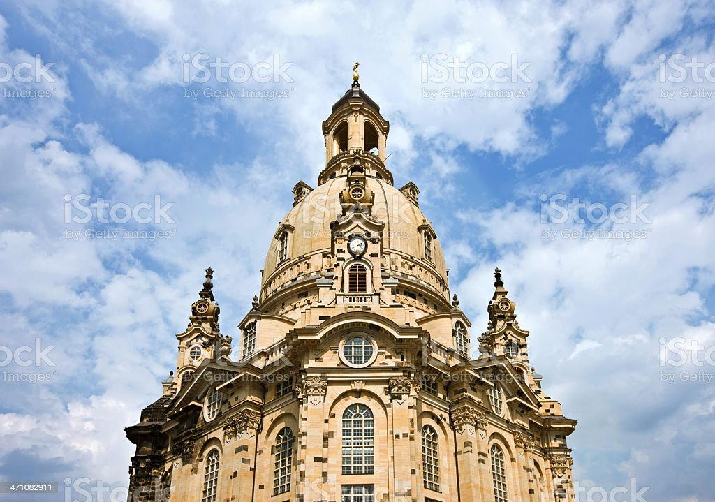 Frauenkirche Dresden royalty-free stock photo