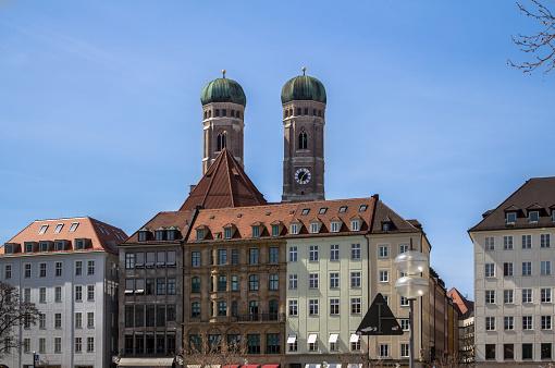 Frauenkirche in centre of Munich, Germany