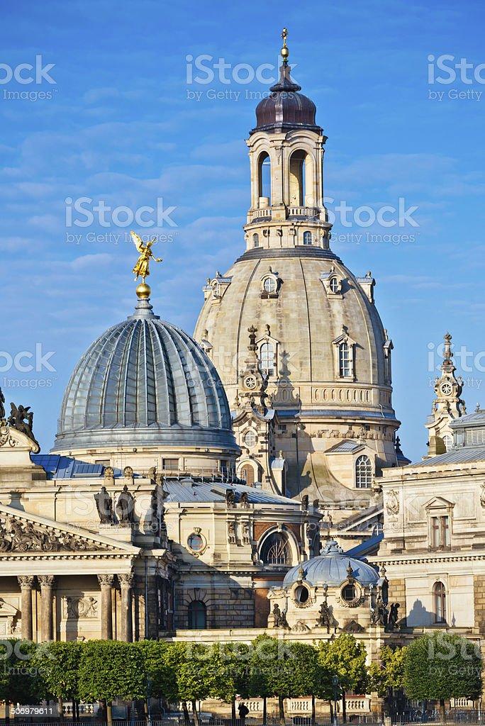 Frauenkirche in Dresden, Germany stock photo