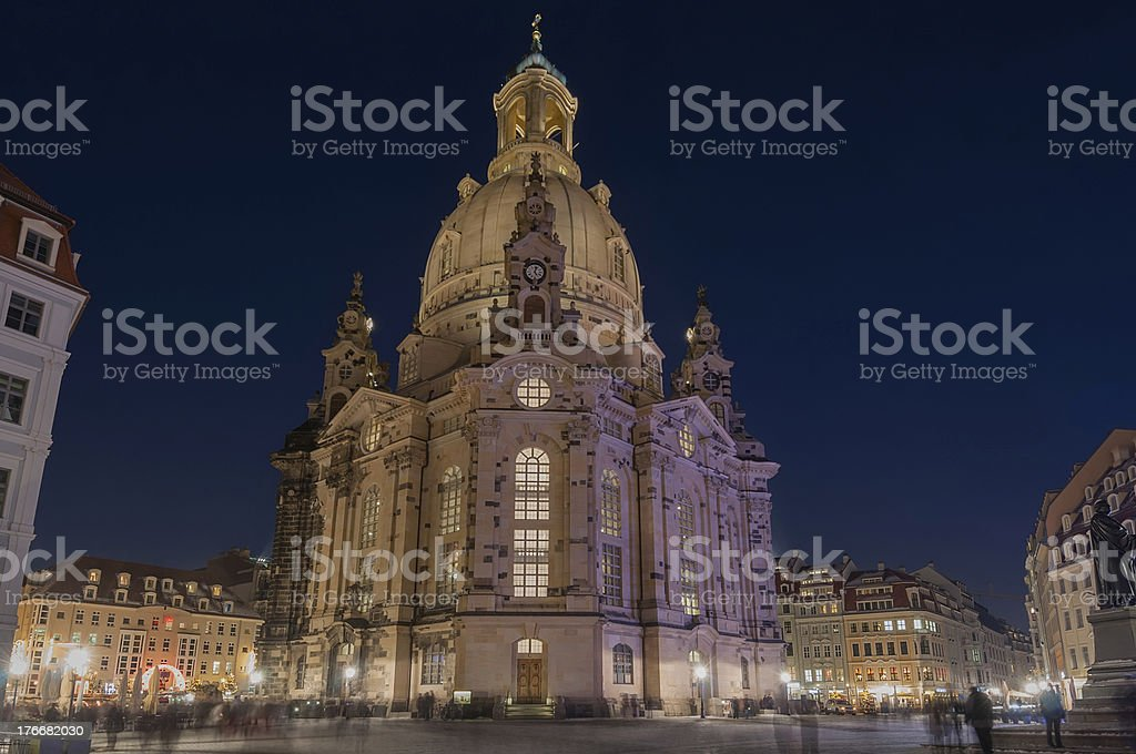 Frauenkirche in Dresden royalty-free stock photo