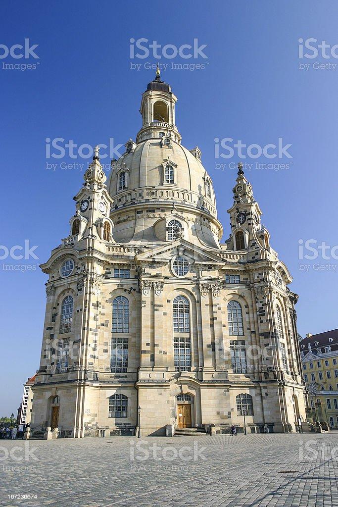 Frauenkirche in Dresden vertical royalty-free stock photo