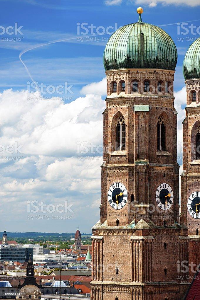 Frauenkirche in Munich, German stock photo