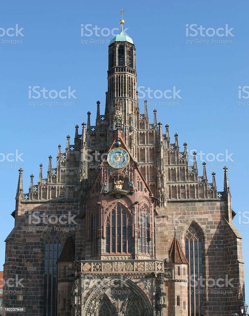Frauenkirche in Nuremberg royalty-free stock photo