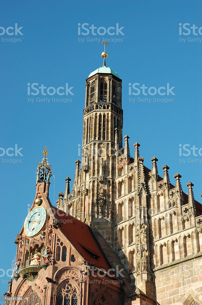 Frauenkirche (Church of our lady) in Nuremberg,Germany royalty-free stock photo