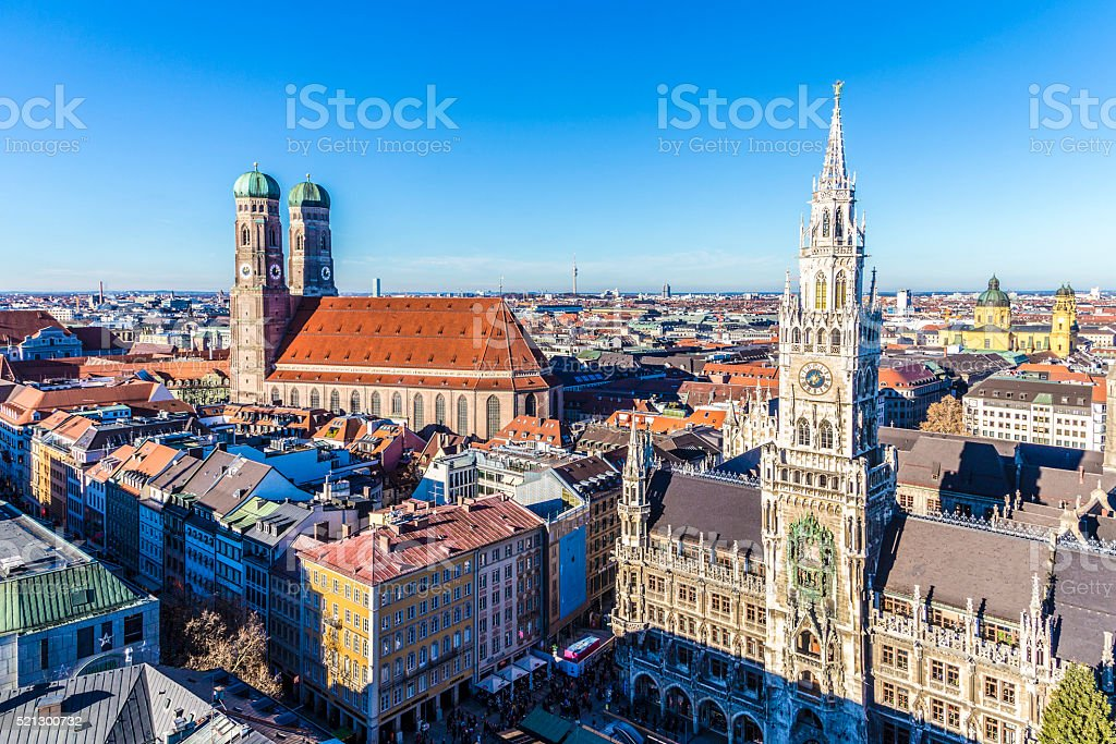 Frauenkirche in the Bavarian city of Munich stock photo