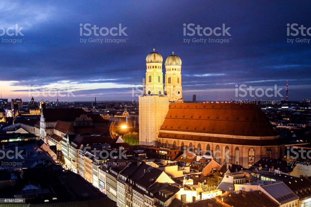 Frauenkirche Munchen stock photo