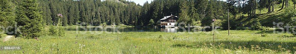 Frauensee-Panorama Lizenzfreies stock-foto
