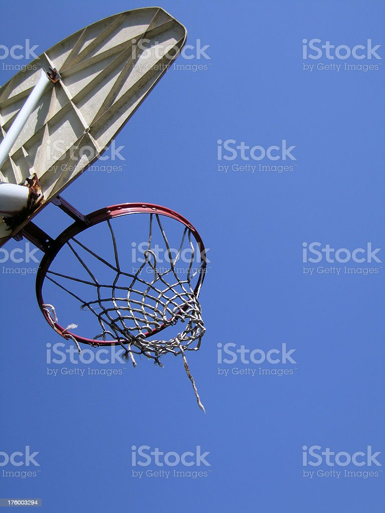 Frayed Basketball Hoop royalty-free stock photo