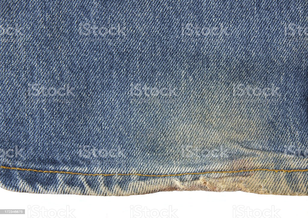 Frayed jeans stock photo