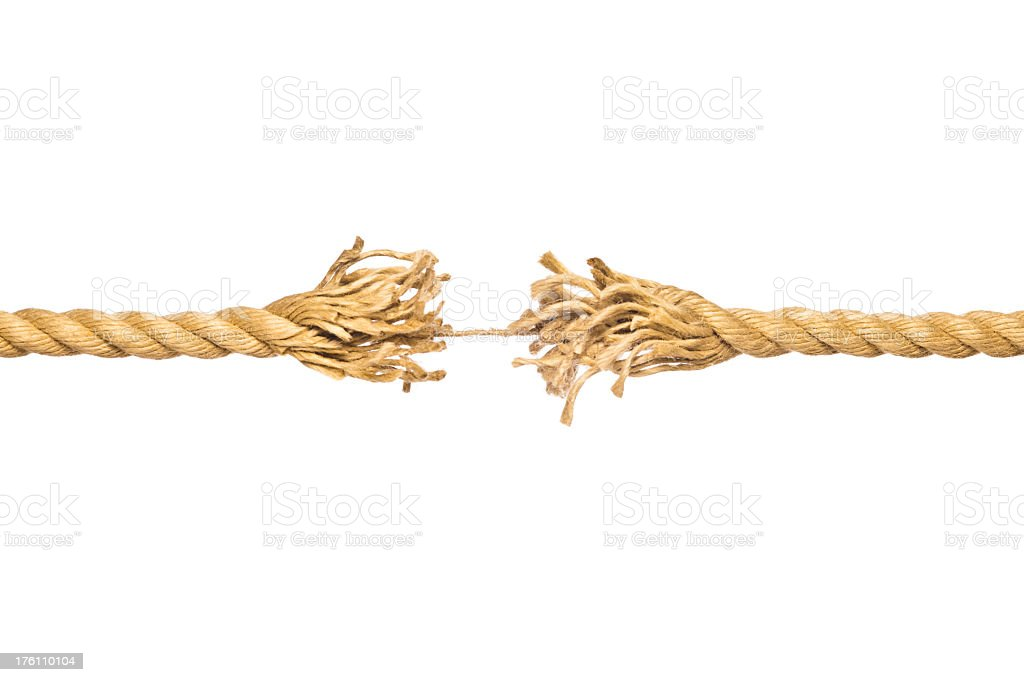 a frayed piece of string hanging by a thread stock photo more pictures of concepts istock. Black Bedroom Furniture Sets. Home Design Ideas