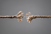 istock Frayed rope about to break 1206615949