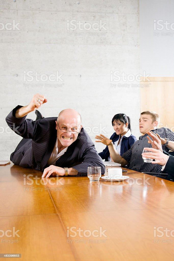 Freak Out Business Meeting royalty-free stock photo