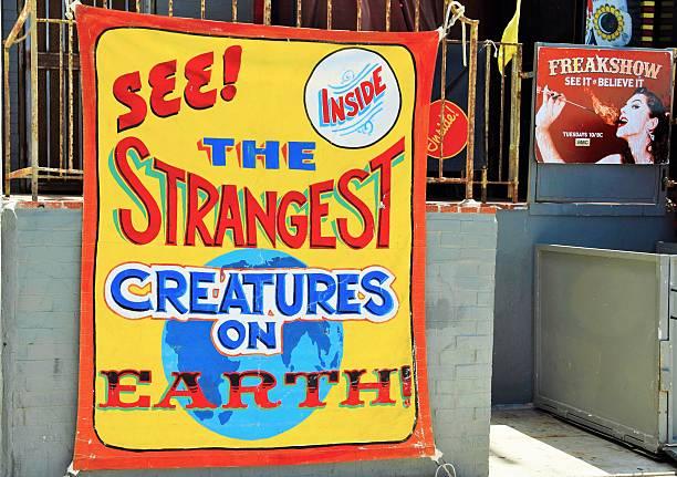 Freakshow at Venice Beach Boardwalk stock photo