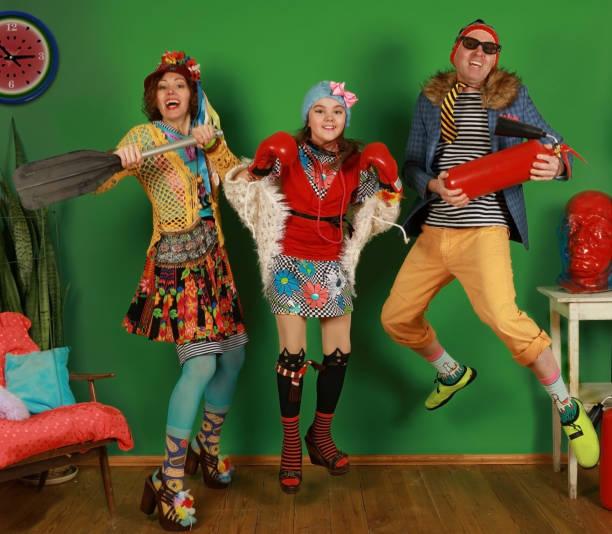 Eine freaky Familie spaßen im Studio – Foto
