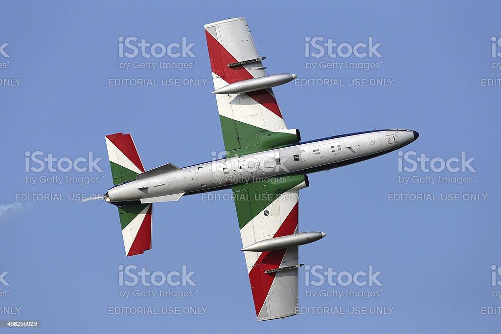 Frecce Tricolori aerobatic demonstration team stock photo