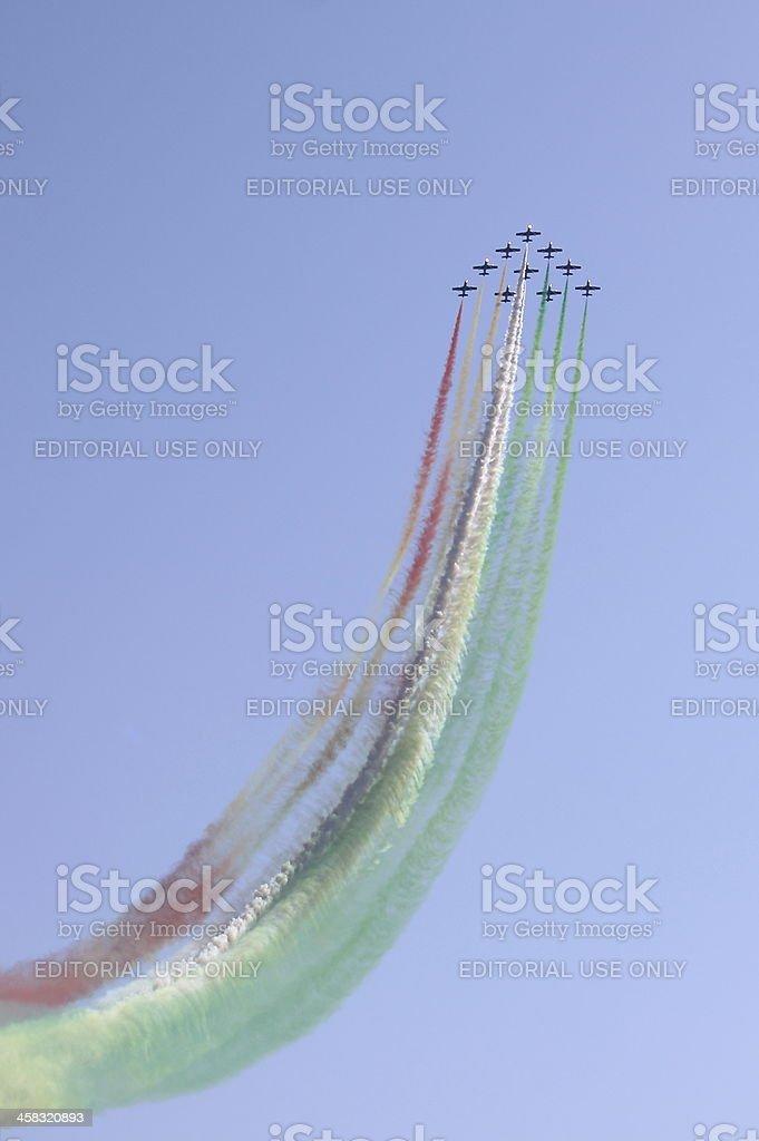 Frecce Tricolori stock photo
