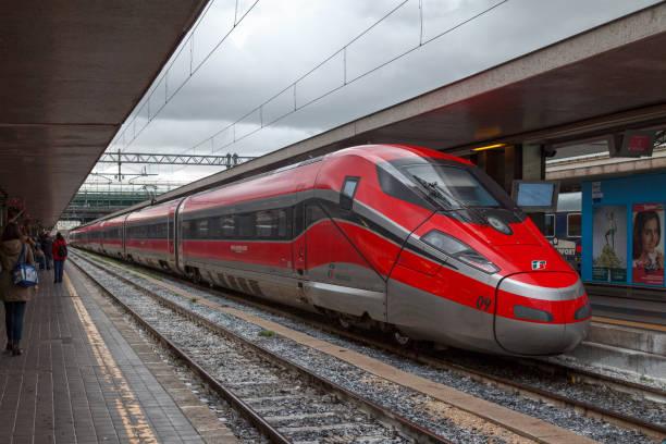 Frecciarossa at Roma Termini stock photo
