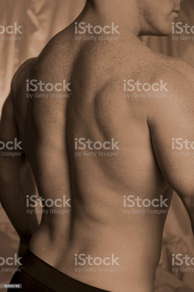 freckles on back stock photo