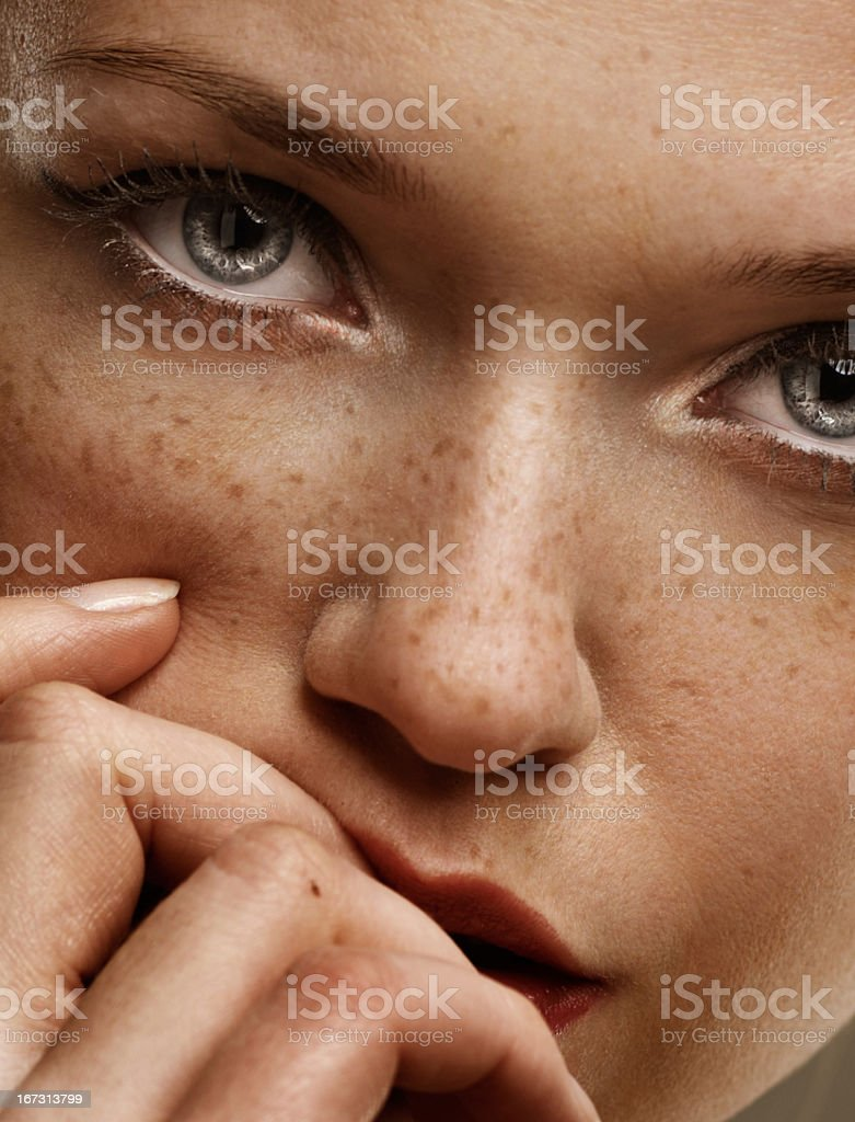 Freckles stock photo