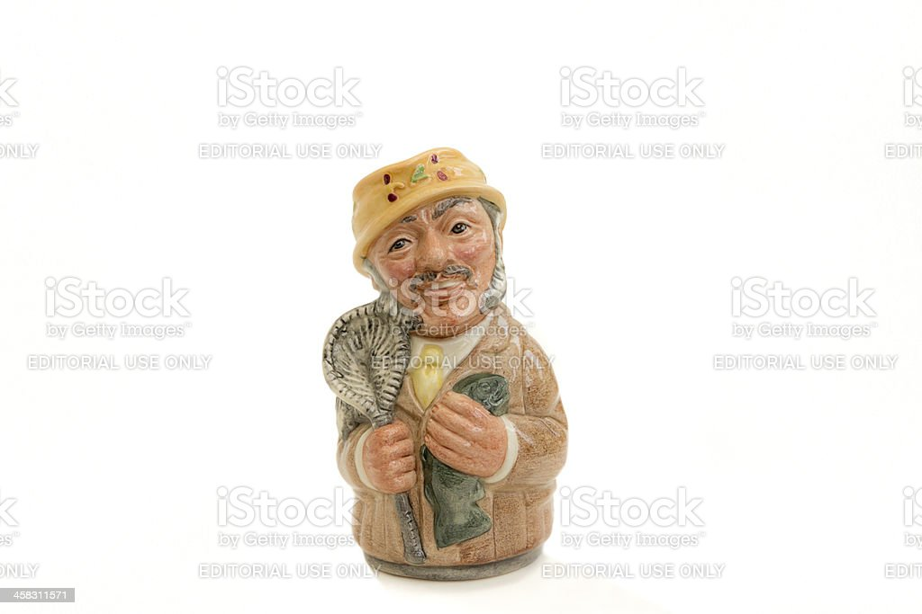 Fred Fly the Fisherman royalty-free stock photo