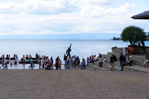 Freddie Mercury sculpture at Montreux.