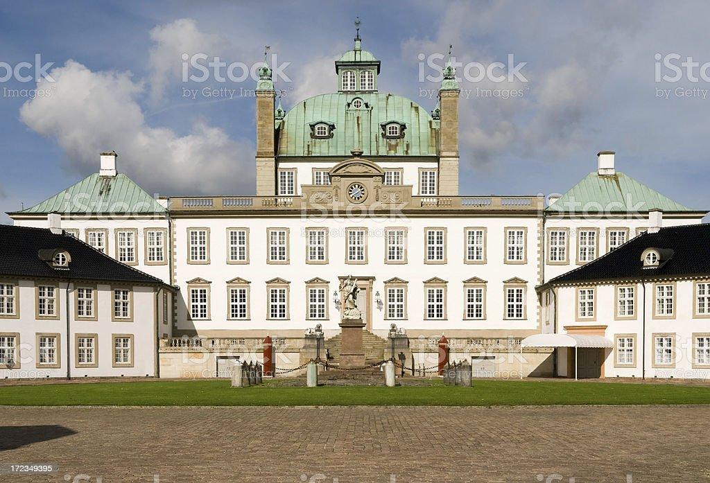 Fredensborg castle, in Denmark. royalty-free stock photo