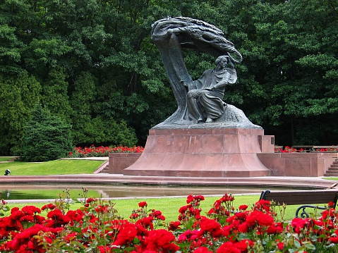 Frederic Chopin Monument in Warsaw, Poland