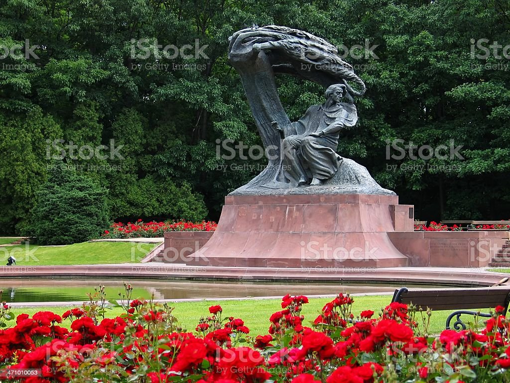 Frederic Chopin Monument in Warsaw, Poland stock photo