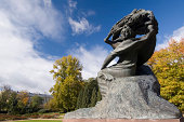 Frederic Chopin monument in Lazienki Park in Warsaw, Poland.