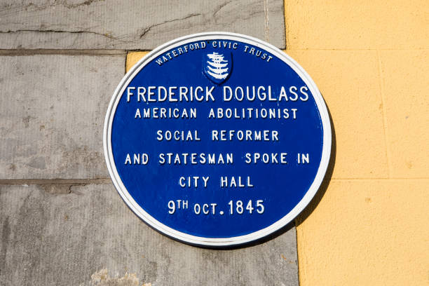 Frederick Douglass Plaque in Waterford, Ireland stock photo