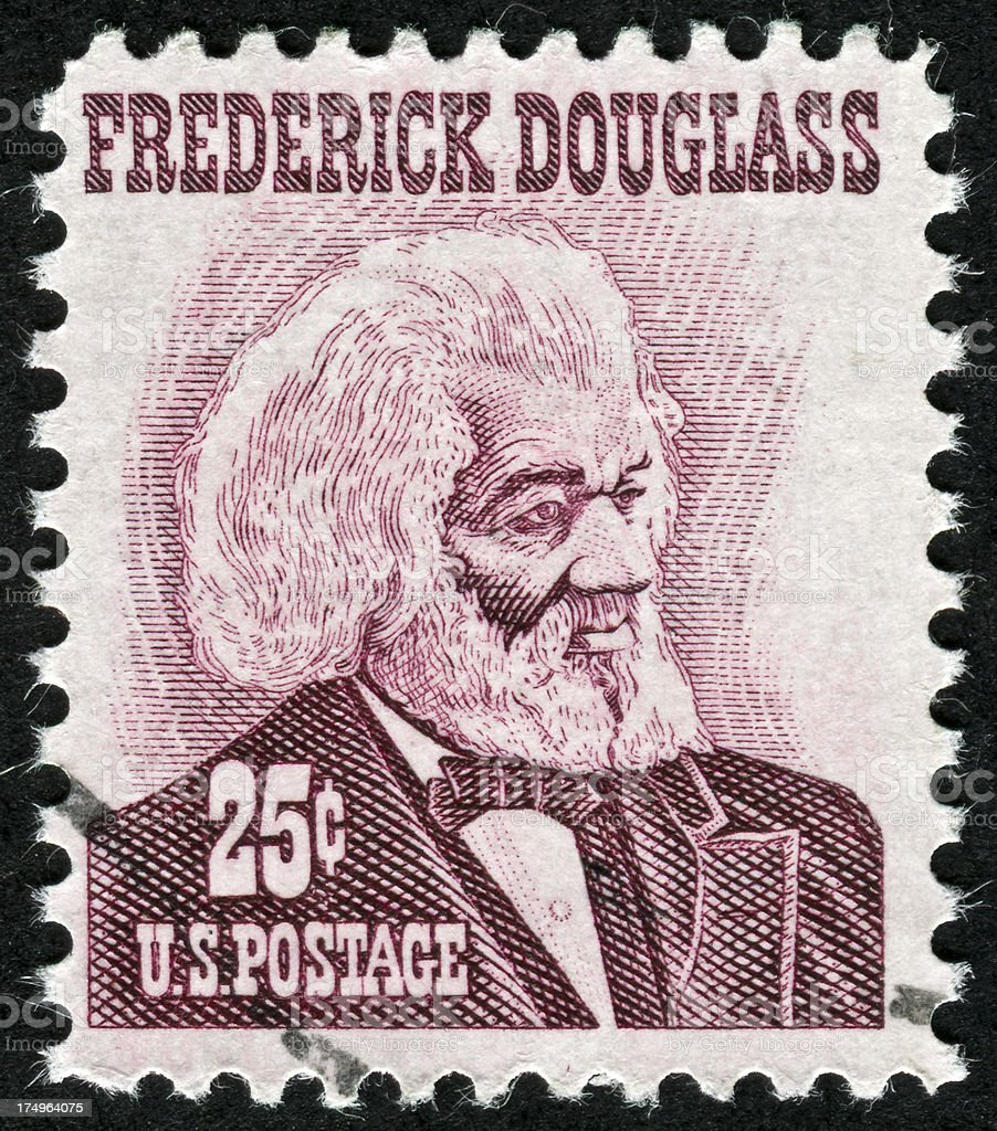 Frederick Douglass Stamp stock photo