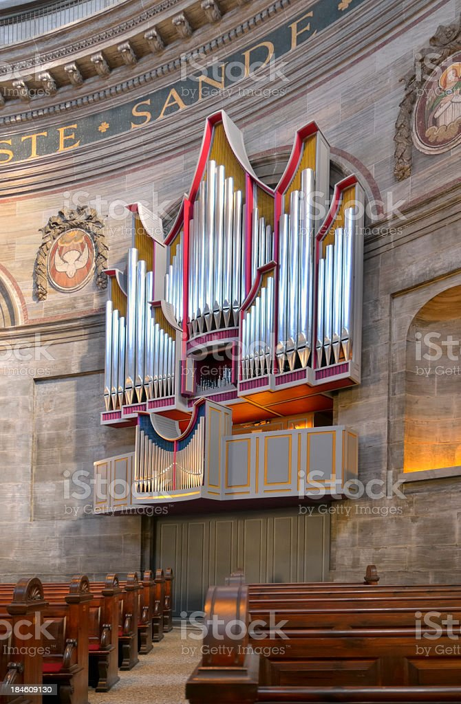 Frederick's Church Pipe Organ stock photo