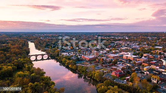 istock Fredericksburg Virginia Sunrise Aerial 1001201974