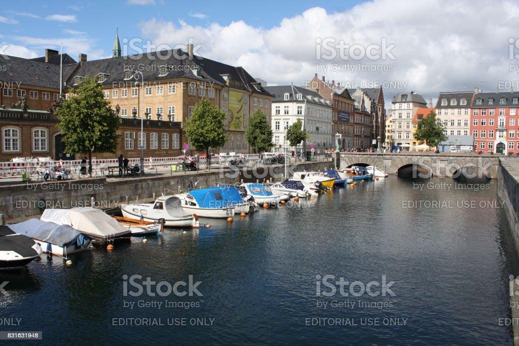 Frederiksholms Canal in Copenhagen, Denmark. stock photo
