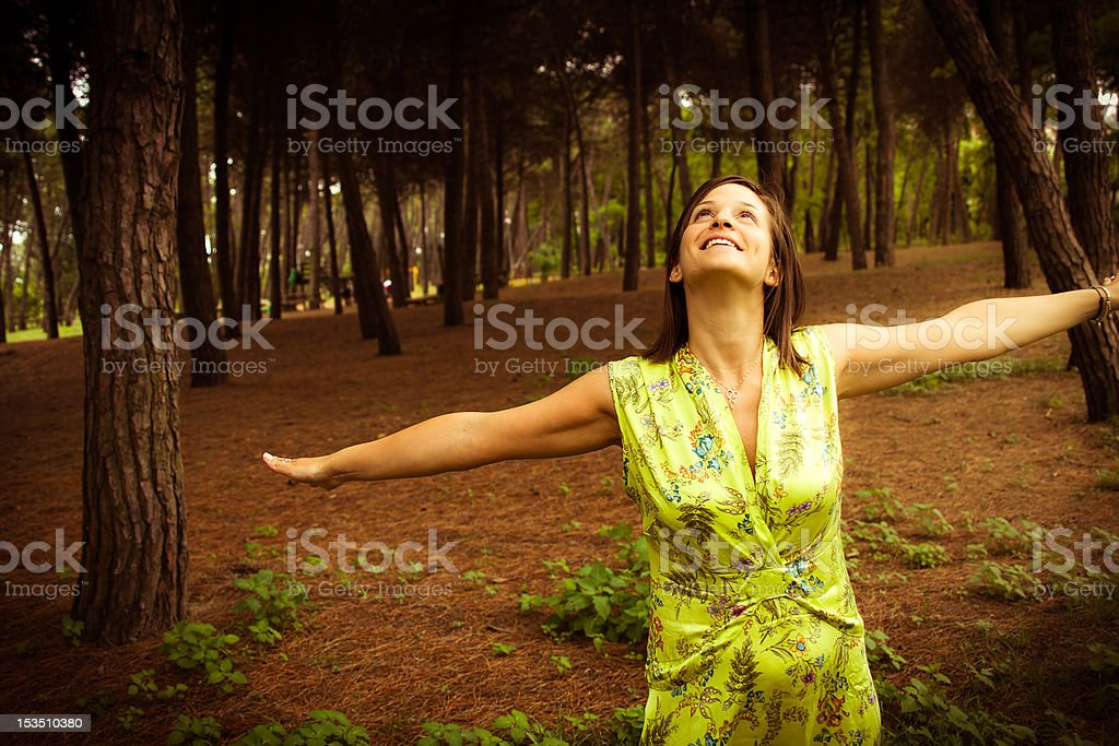 Free and happy woman royalty-free stock photo