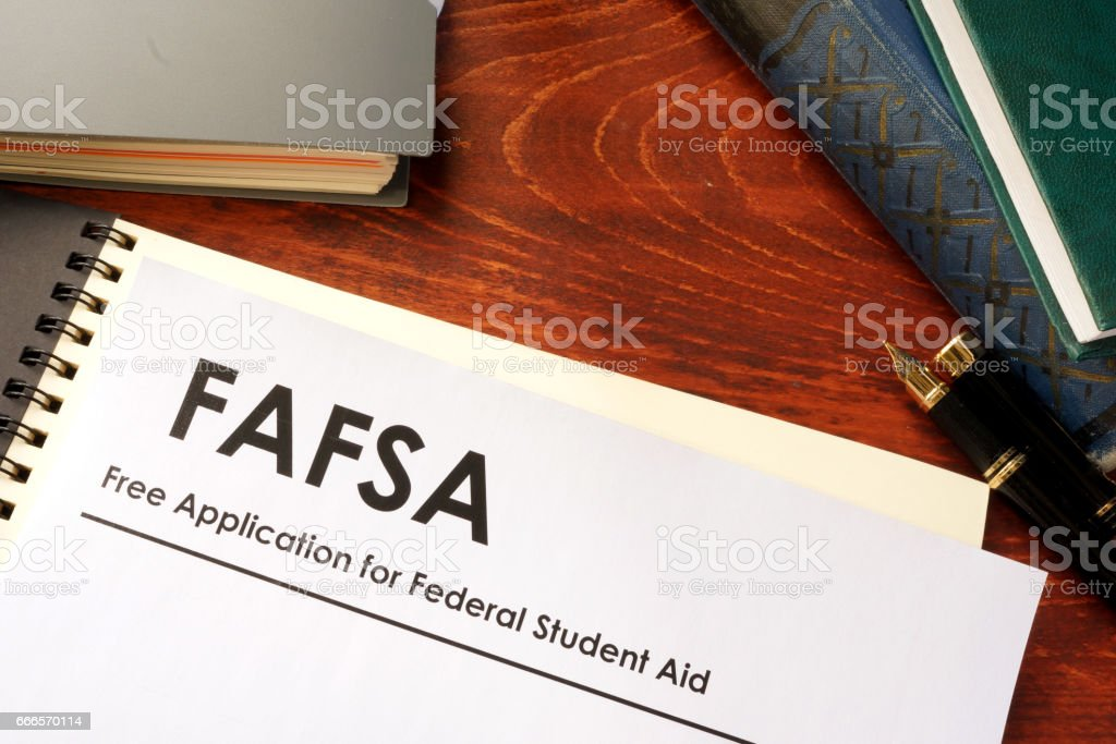 Free Application for Federal Student Aid (FAFSA) stock photo