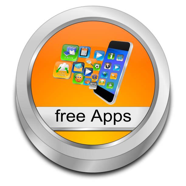 kostenlose apps taste - 3d-illustration - iphone gratis stock-fotos und bilder