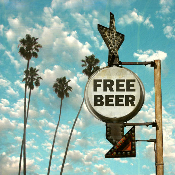free beer sign stock photo