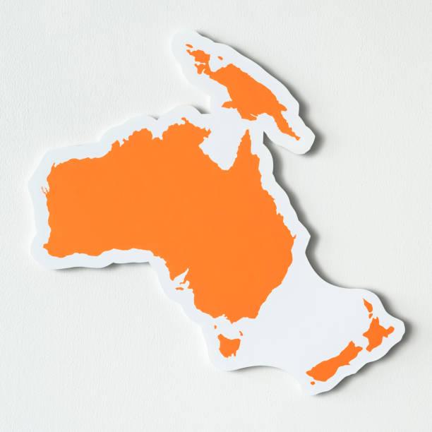 Free blank map of Australia and Oceania stock photo