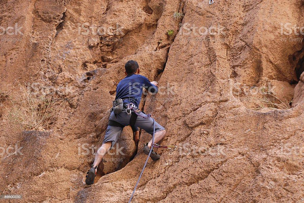 free climber royaltyfri bildbanksbilder