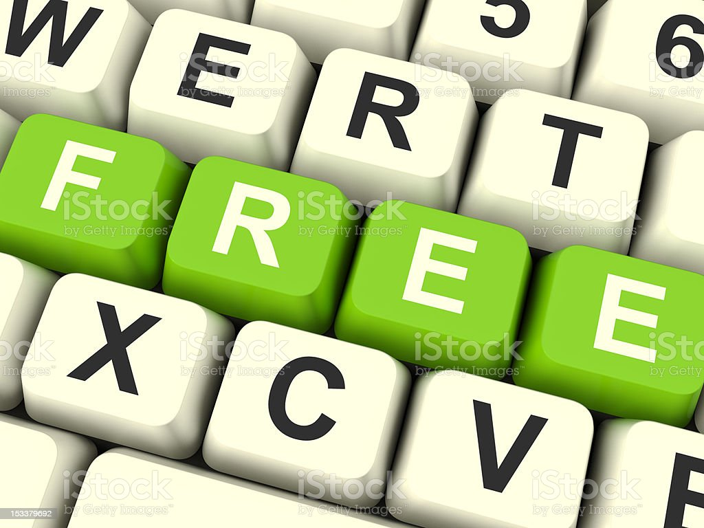 Free Computer Keys Showing Freebies and Promotions royalty-free stock photo
