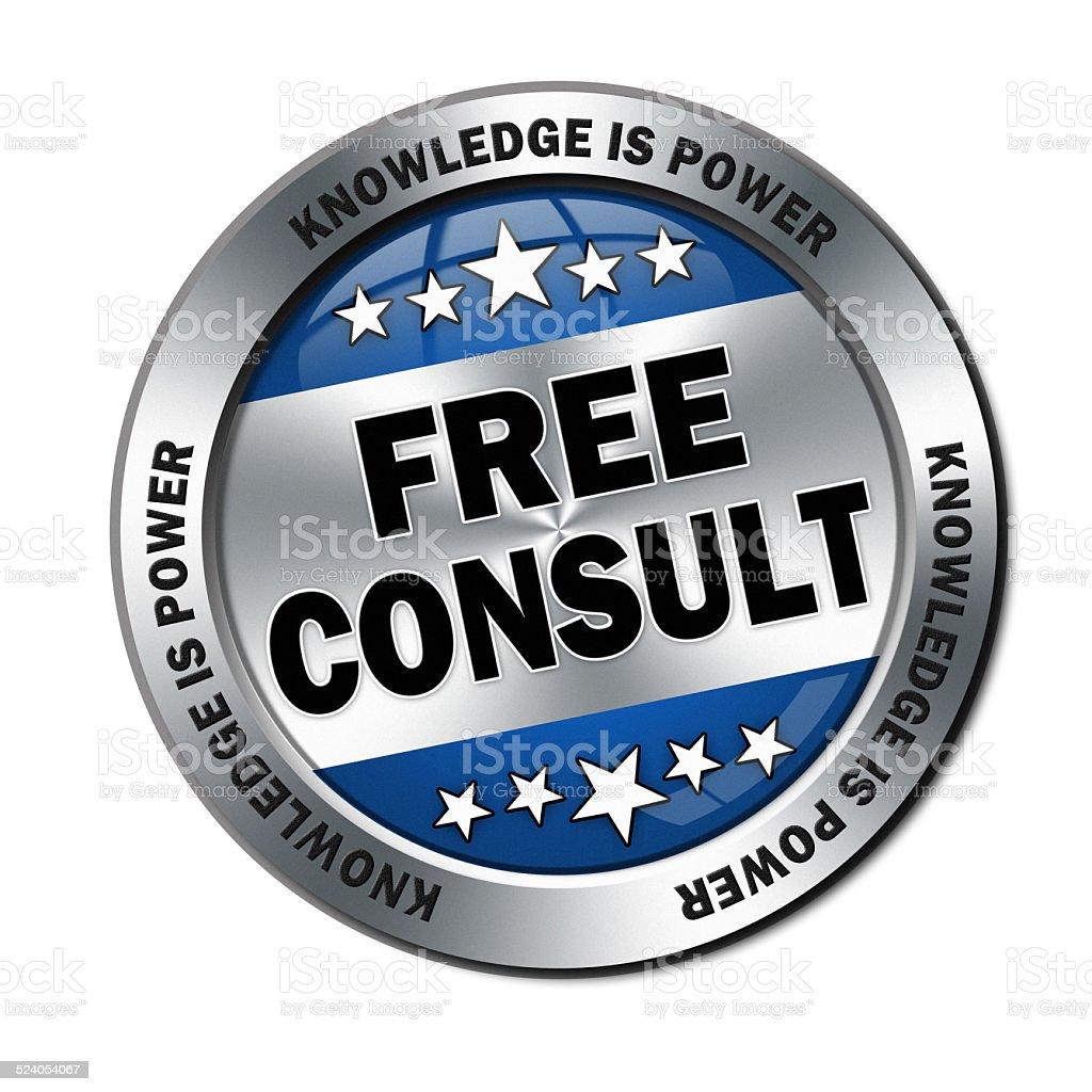 free consult icon stock photo