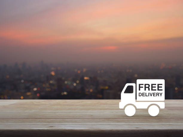 Free delivery concept stock photo