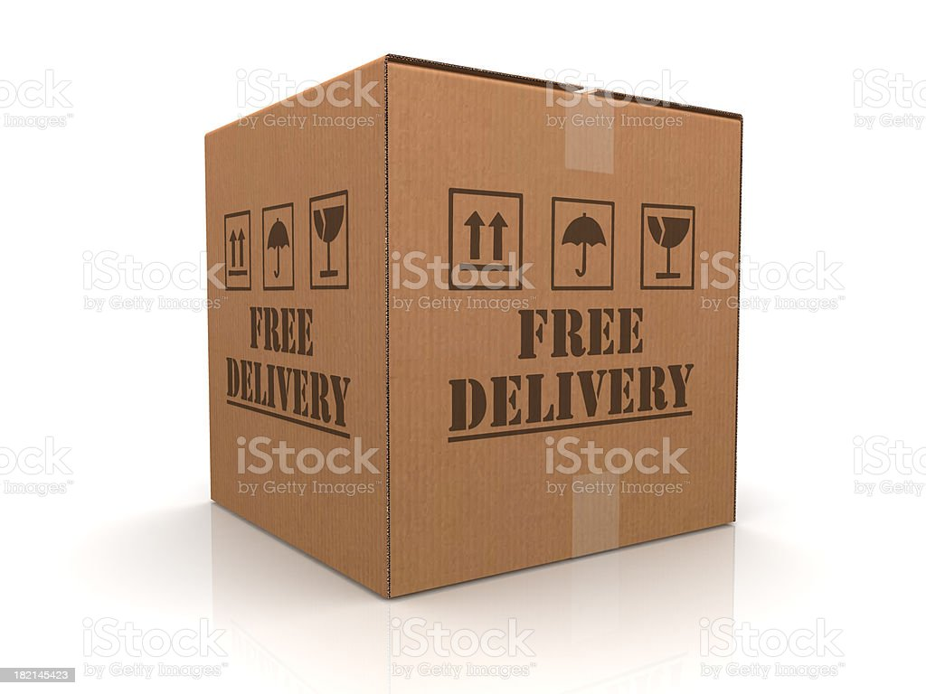 Free Delivery royalty-free stock photo