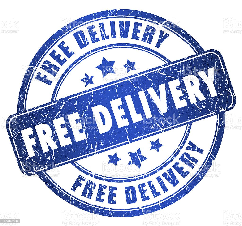 Free delivery stamp royalty-free stock photo