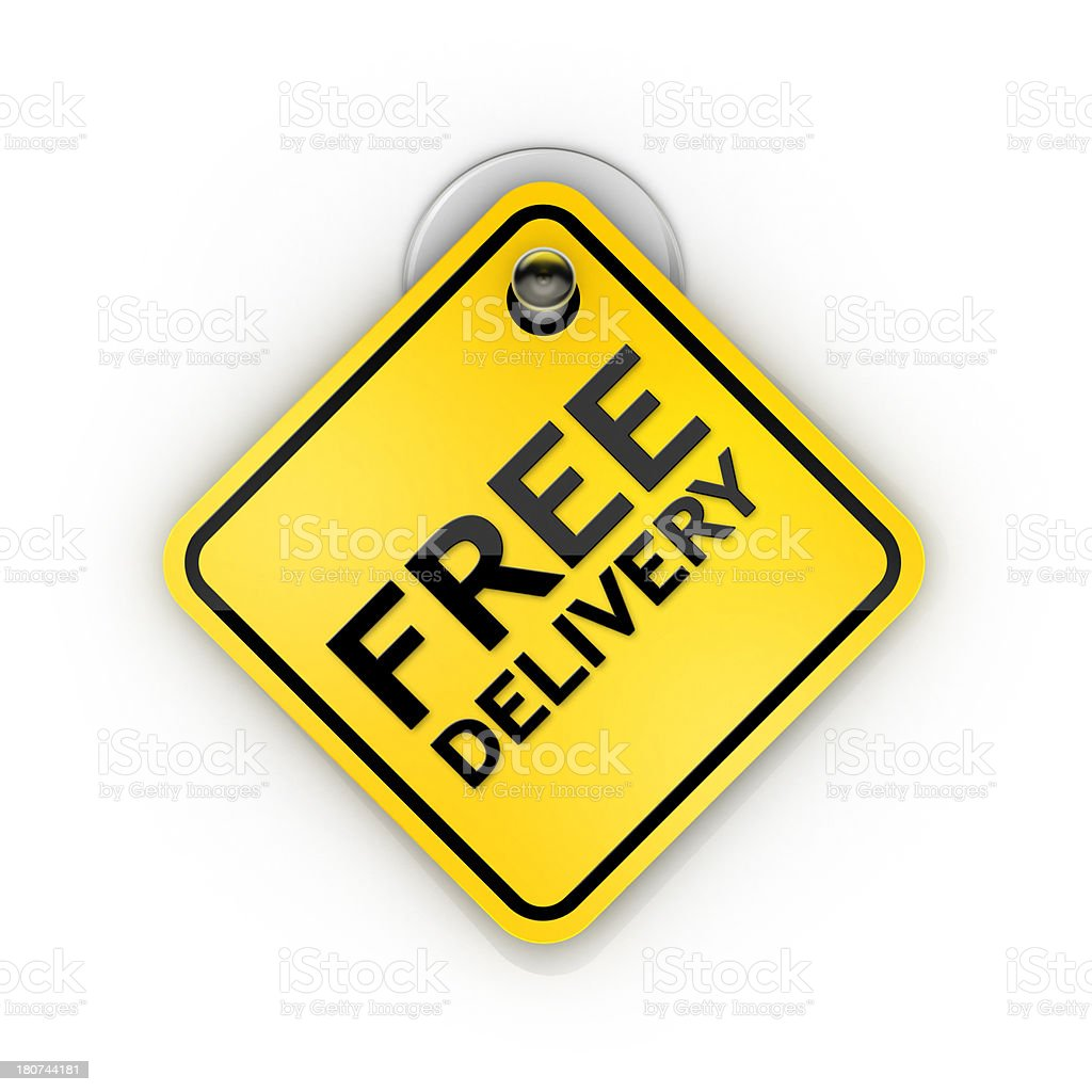 Free Delivery Sticky label note royalty-free stock photo