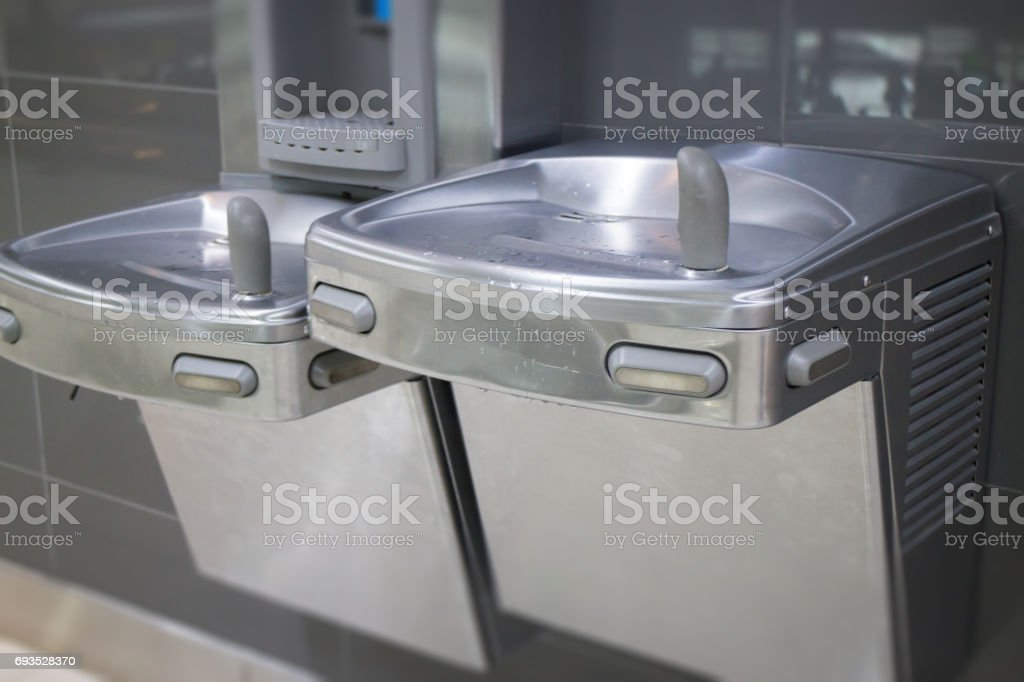 Free Drinking Water For Traveler In Airport stock photo