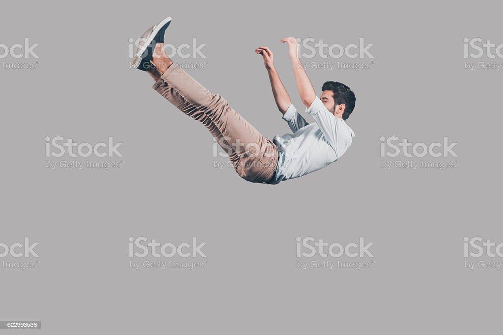 Free falling. stock photo