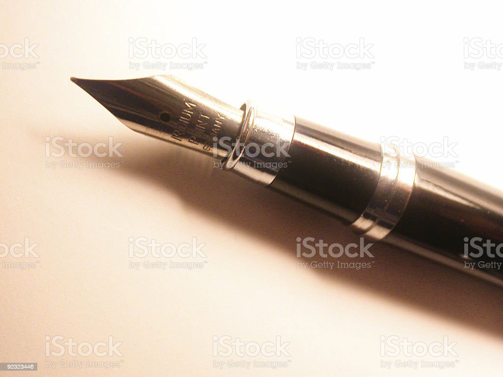 free flowing ink pen royalty-free stock photo